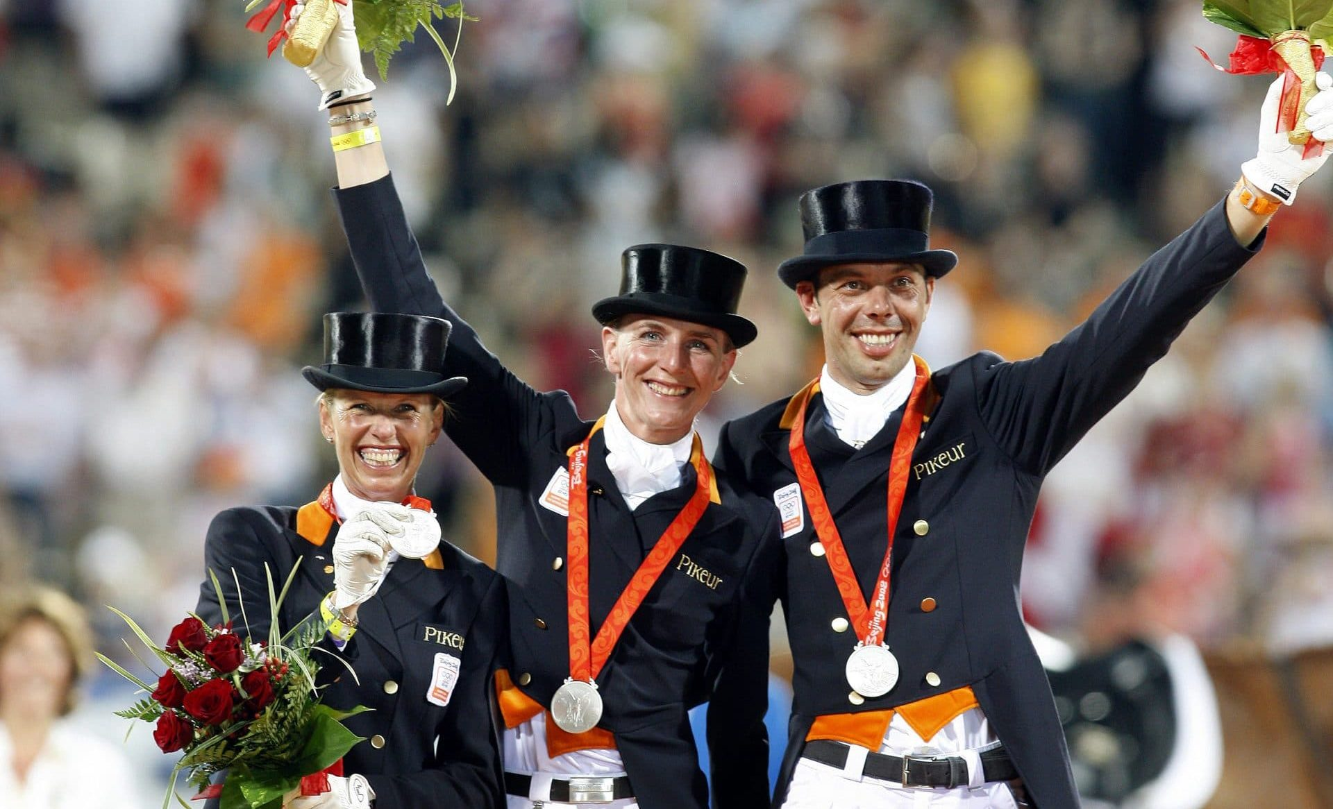 Podium Nederlands team met Imke