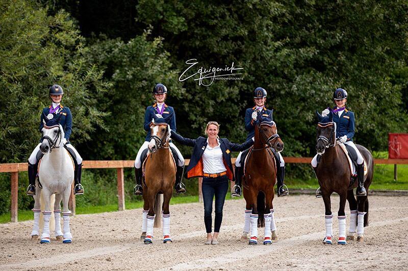 Teammedaille op het EK pony's in 2019